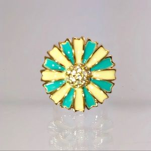 Beautiful Goldplated Turquoise Flower Ring
